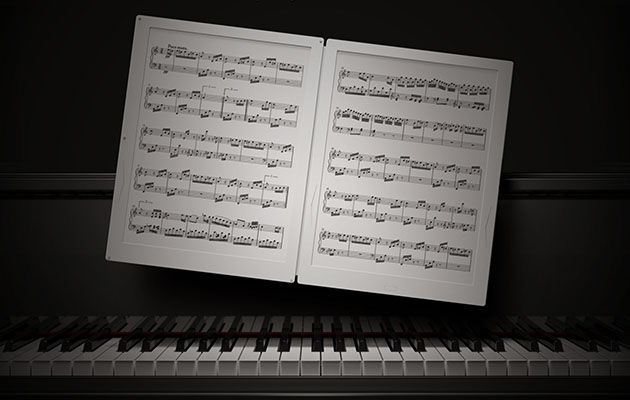 gvido e ink music score organises sheet music turns the page for you. Black Bedroom Furniture Sets. Home Design Ideas