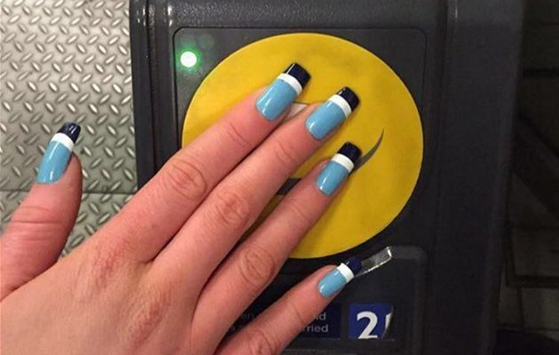 Oyster Card nails