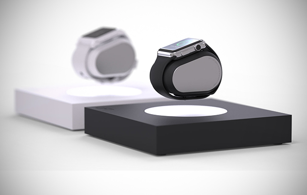 Lift charger makes your apple watch or pebble float in thin air