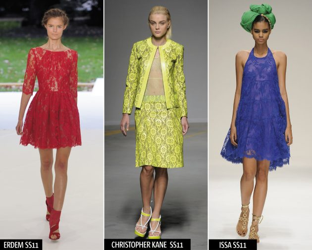 Lace On The Erdem, Christopher Kane and Issa Spring/Summer 2011 catwalks