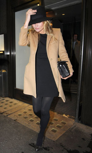 Kate Moss Wearing A Camel Coat After A Lunch Date With Sir Phillip Green