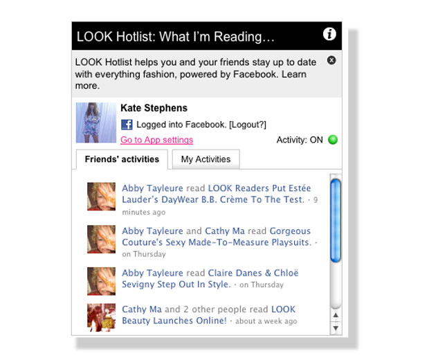 Find out everything you need to know about our Facebook app, LOOK Hotlist