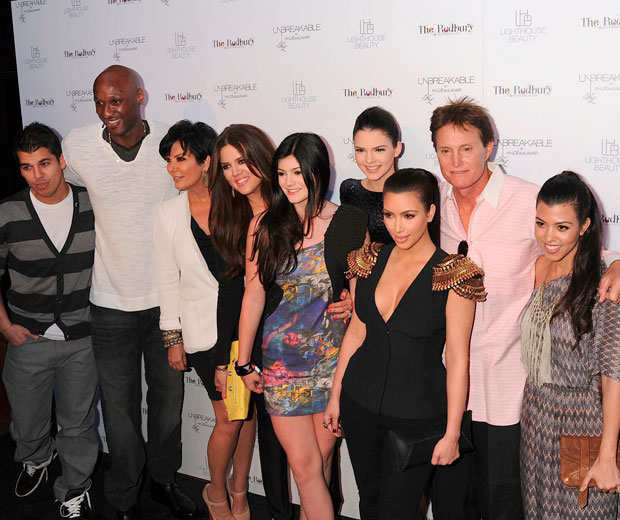 The Kardashian family all turn up to support Khloe Kardashian launch her perfume, Unbreakable