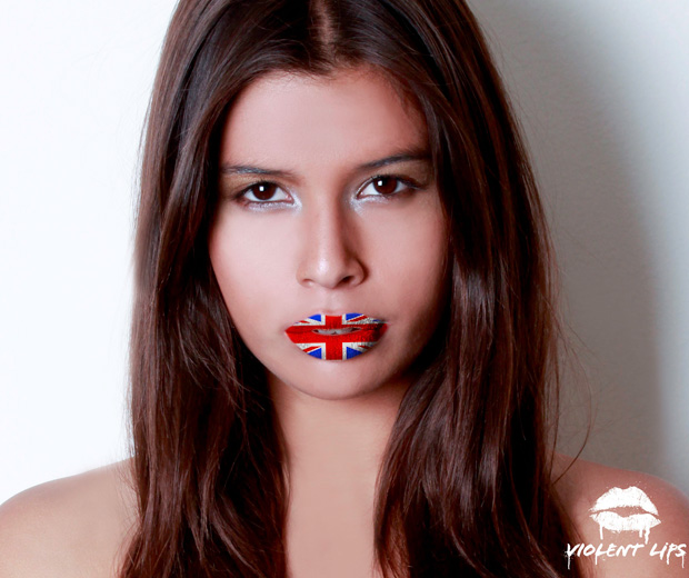 Be bold and try Violet Lips' Union Jack lip tattoo at home!