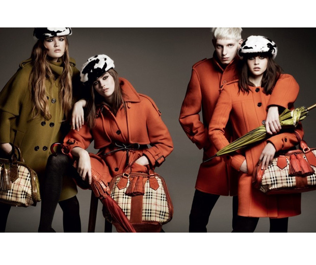 Burberry's AW/11 fashion campaign featuring upcoming actress Felicity Jones