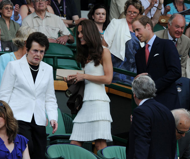 Kate Middleton wowed in a Temperley dress as she arrived at Wimbledon 2011 with husband Prince William