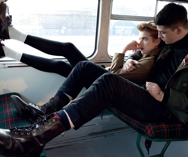 Agyness Deyn and Ash Stymest star in the latest Dr Martens ad campaign