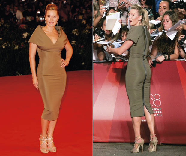 Kate Winslet wearing Victoria Beckham at Venice Film Festival for the premiere of her film Carnage