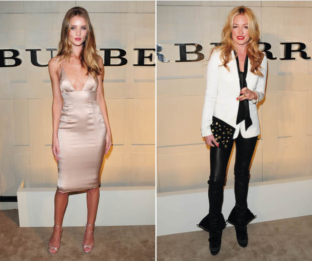 Rosie Huntington-Whiteley and Cat Deeley at the Burberry Body fragrance launch in LA