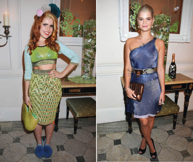 Paloma Faith and Pixie Geldof glam up at the Perrier-Jouet 200th birthday party in London