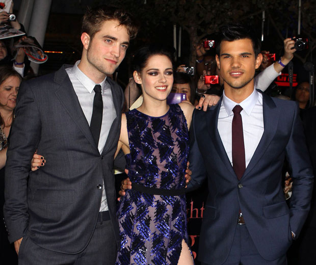 The LA premier of 'Breaking Dawn' with Robert Pattison, Kirsten Stewart and Taylor Lautner