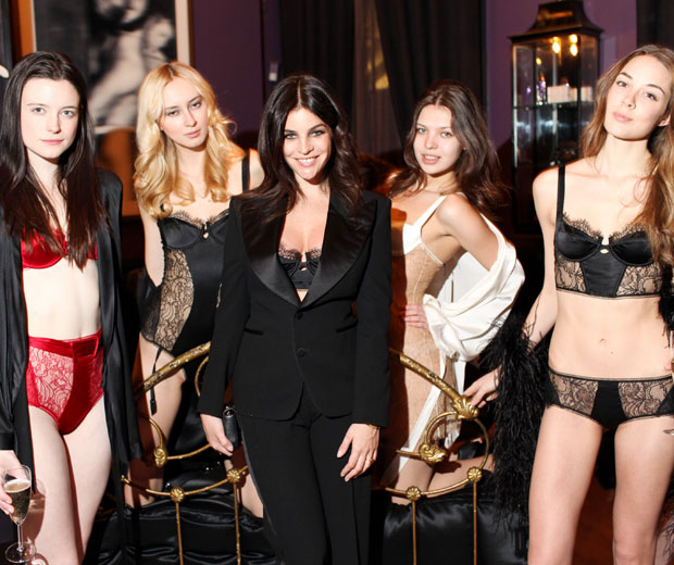 Julia Restoin Roitfeld looked gorgeous at the launch of her new lingerie range where she also celebrated her pregnancy