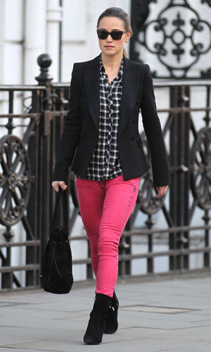 Brightening up January – Pippa Middleton looks super-stylish out and about in London