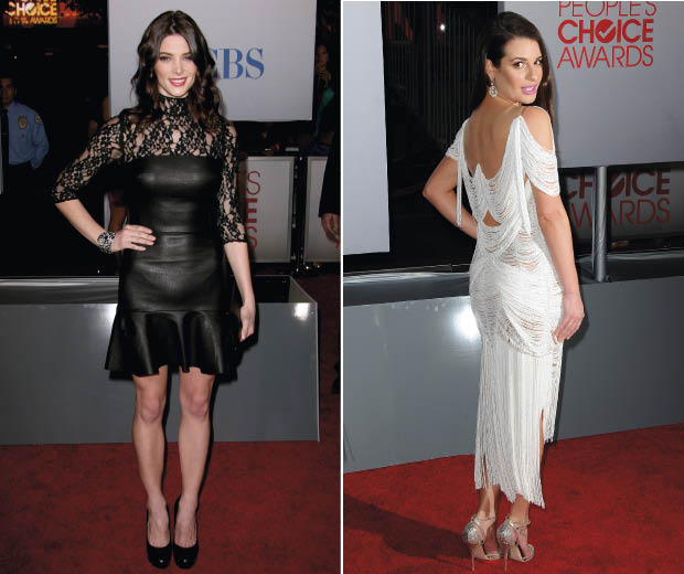 People's Choice Awards 2012 Best Dressed: Ashley Green, left, and Lea Michele, right