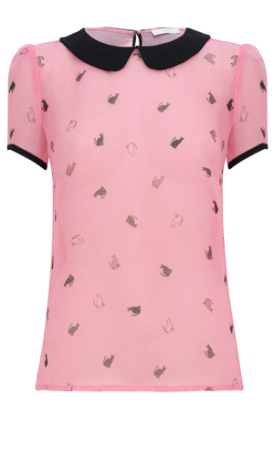 Shop for your Victoria Beckham-style cat prints at Marks & Spencer