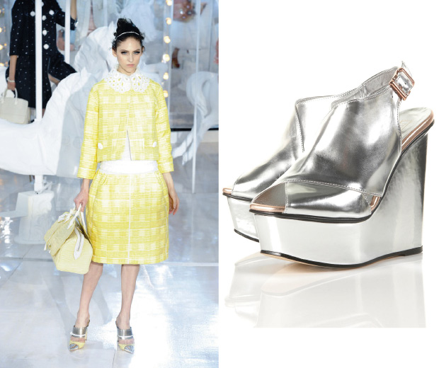 SIlver shoes at Louis Vuitton and Topshop – spring's hot new shoe trend