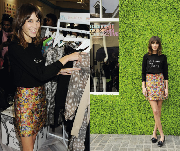 Alexa Chung opens Bicester Village's British Designers Collective pop-up store