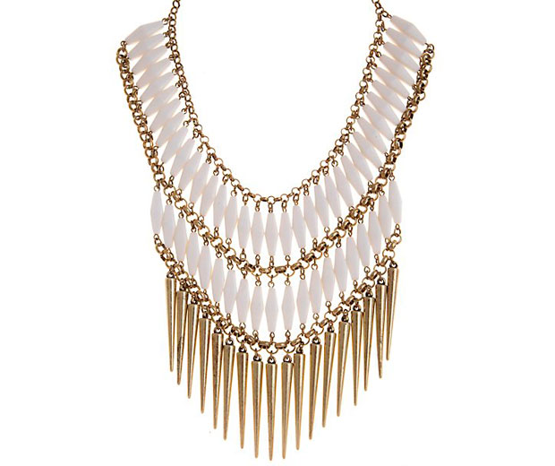 Hot Spiked Statement Necklace From High Street Store New Look