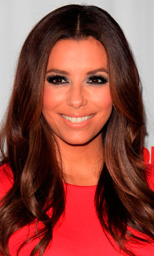 Eva Longoria Works Perfect Brunette Curls
