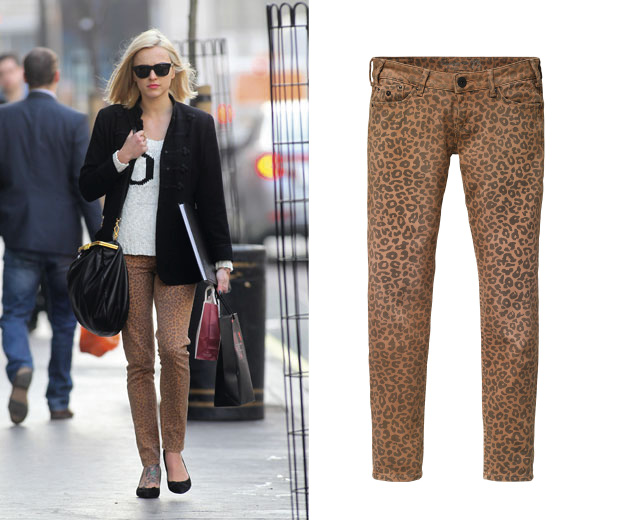 Fashion fabulous! Get Fearne Cotton's leopard print jeans on the high street now