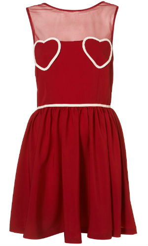LOOK Loves: Topshop's Red Heart Patch Pocket Dress £48