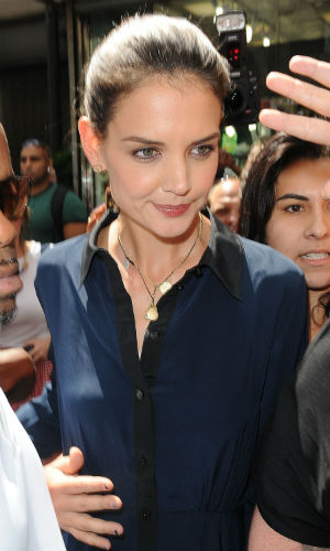 Katie Holmes steps out in New York after her divorce to Tom Cruise is made official