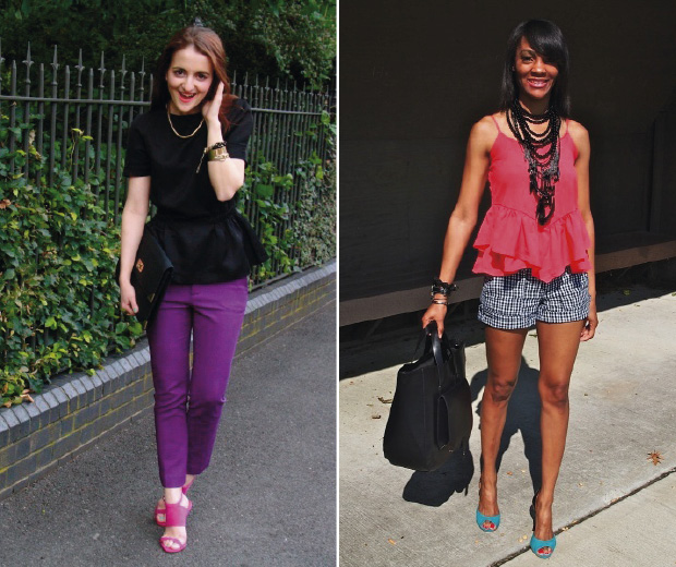 We're loving the peplum high street fashion trend on our street style site!