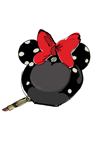 Minnie Mouse sketch by Lulu Guinness