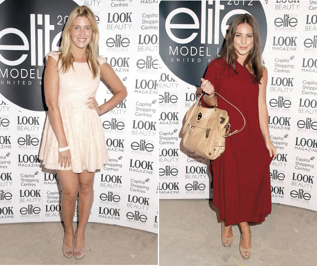 Made In Chelsea's Cheska Hull and Louise Thompson at the Elite Model Show!