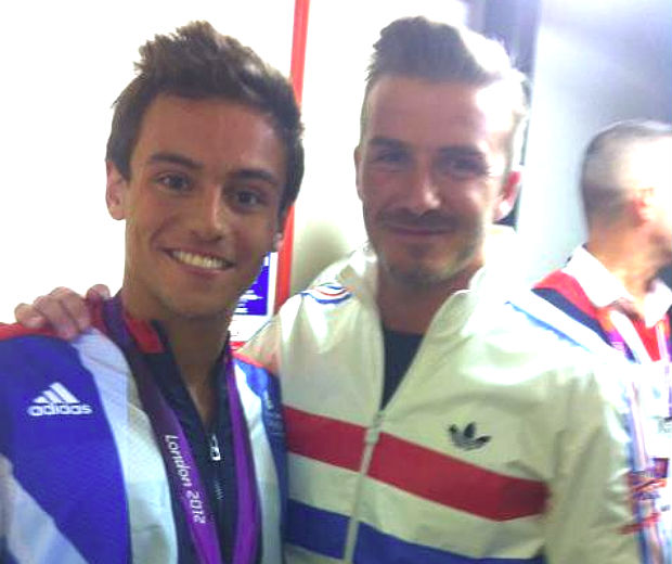 Tom Daley and his Olympics supporter David Beckham!