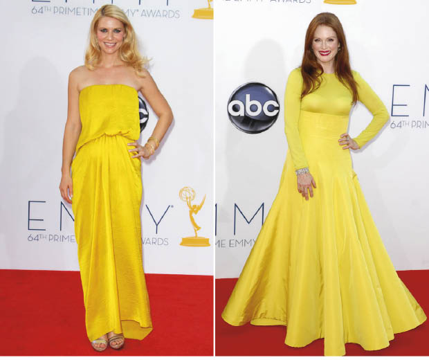 Claire Danes and Julianne Moore at the 64th Annual Emmy Awards 2012