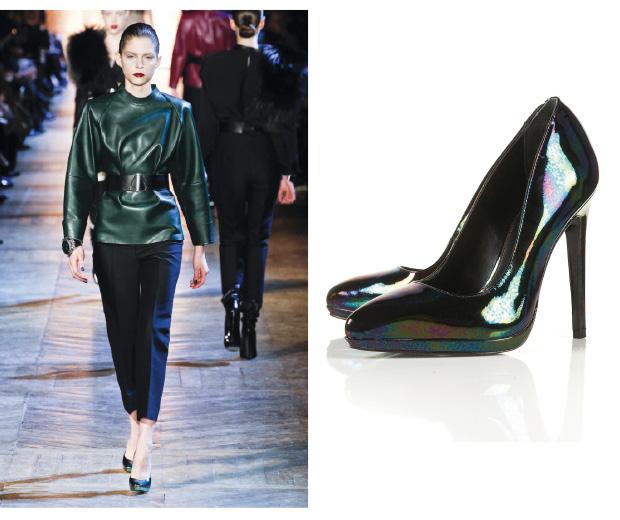 Get the YSL look with Topshop's metallic heels