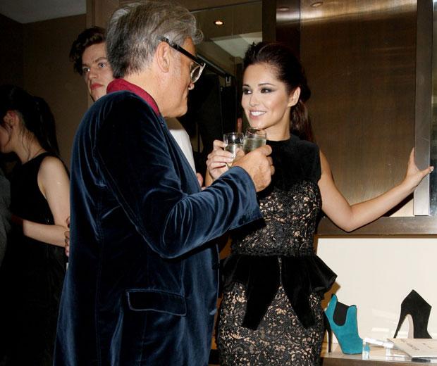Cheryl Cole has a chinwag with designer Giuseppe Zanotti