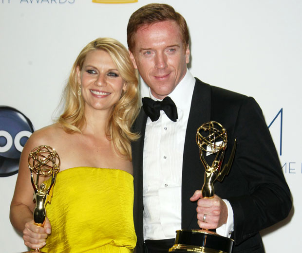 Claire Danes and Damian Lewis scooped Emmy Awards for their roles in Homeland