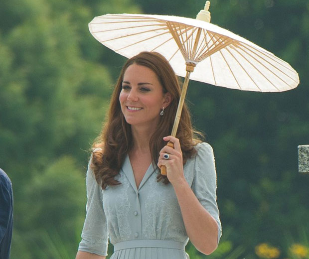 Kate Middleton chose to wear Jenny Packham again for her final day in Singapore