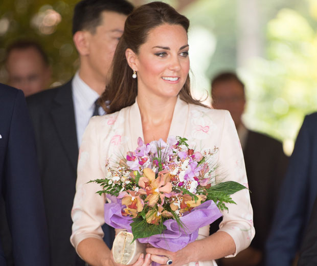 Kate Middleton is visiting Singapore as part of the Diamond Jubilee Tour