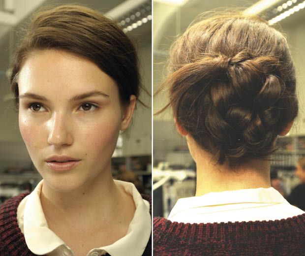 This pretty plaited do is easy peasy!