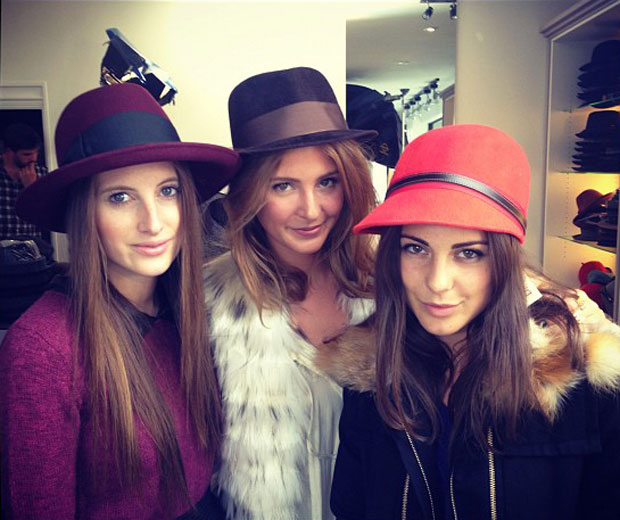 Rosie Fortescue, Millie Mackintosh and Louise Thompson team up to film Made In Chelsea promo