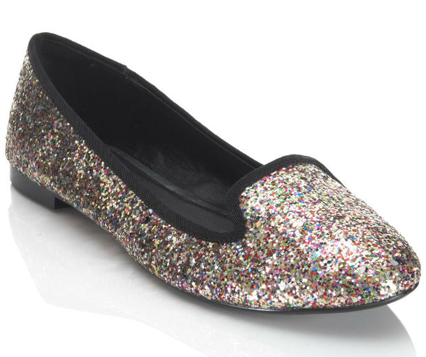 We've fallen head over heels for these sparkly slippers from Miss Selfridge