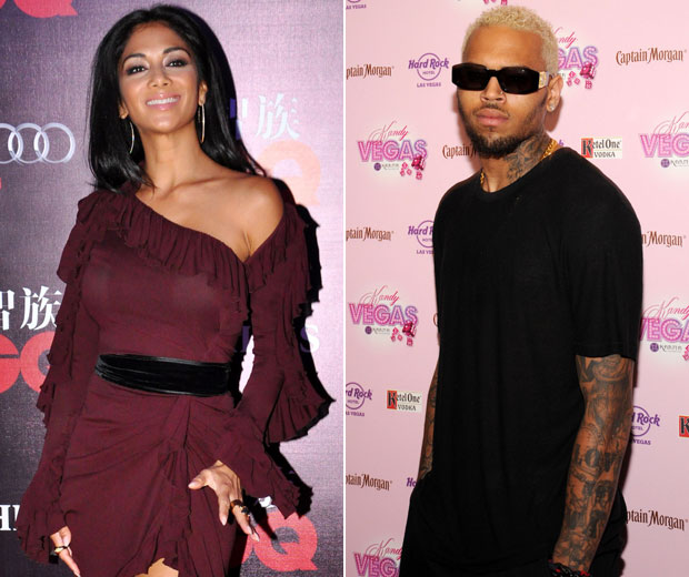 Nicole Scherzinher and Chris Brown were spotted looking cosy in a nightclub this week
