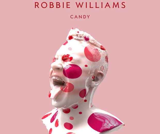 Robbie Williams has unveiled the artwork for his new single Candy