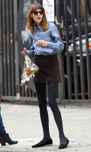 Alexa Chung works a perfect off-duty look while out and about in New York