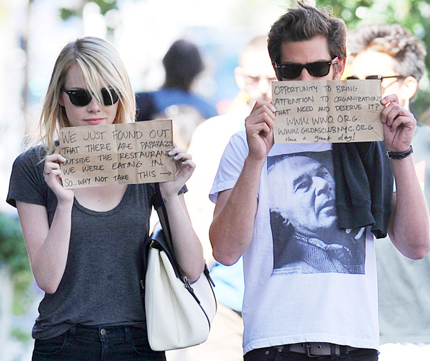 Emma Stone and Andrew Garfield support their top charities!
