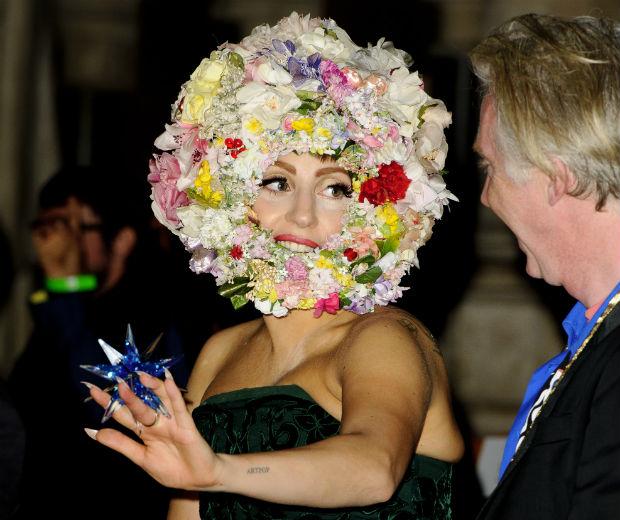 Lady Gaga makes floral anything but boring...