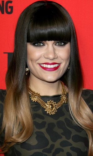 Jessie J Shows Off Her Fab Dip Dye Hair, 2012