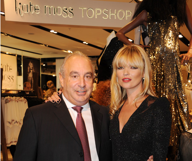 Sir Phillips Green And Kate Moss Launch Her Fashion Collection For Topshop