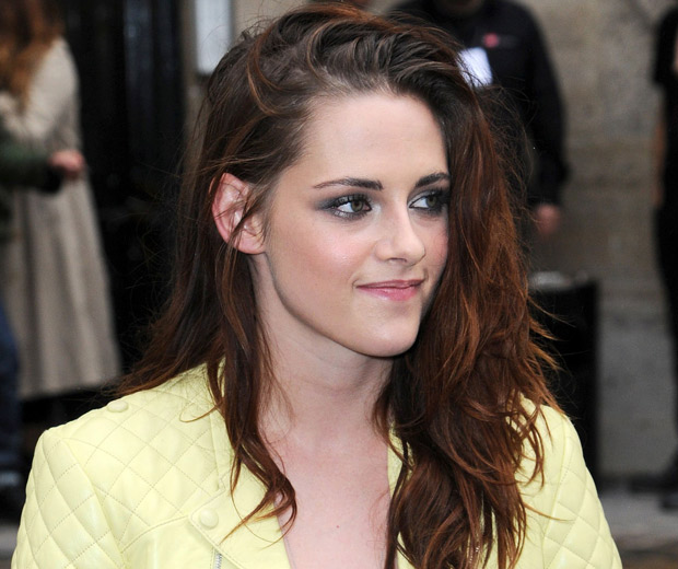 Kristen Stewart was smiling outside the show!