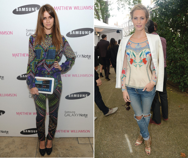 Sunday Girl and Poppy Delevigne out and about at London Fashion Week