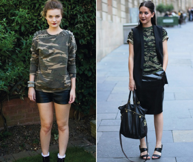 High street fashion fans, see how our readers style camoflage print now...