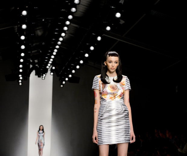 Model On The Catwalk At London Fashion Week ss13, 2012